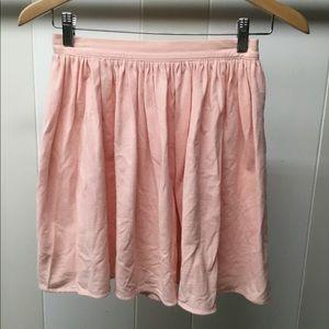 AMERICAN APPAREL | flowing pink skirt
